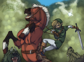 Link and Epona by WhiteFoxCub