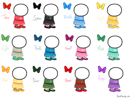 Dresses Sprite Sheet by nikisinsignificant