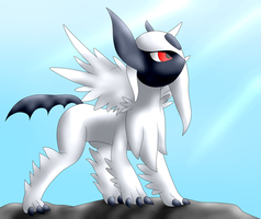 Mega-Absol by TheTimeLordMarshal
