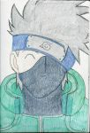 Kakashi -colored by TX-WhiteWolf