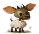 Daily Paint #646. Quickie Sheep by Cryptid-Creations