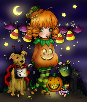 Halloween Cutie Pie Coloring Contest by IriskaArt