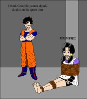 Videl Tied up by Majin-Ziggy