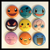 Pokemon Faces Buttons! by InfinityFangX