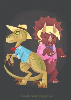 Jurassic Park: Alan Grant and Ellie Sattler by mirandajane