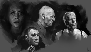 Face Studies by AaronGriffinArt