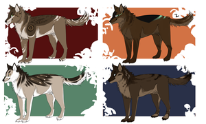 Wolf adoptables- batch 1- CLOSED by Capukat