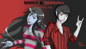 It's Gender bend Time! Marcy and Marshall by nikkaSkye