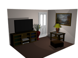 3D Modeling of my Living Room by gameover89