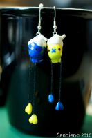 Drifloon earrings by Sandien