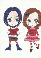 Hachi and Nana chibi's by bloodplusrocks