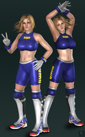 DOA5 - Tina Armstrong DWA costume (DLC outfit) by Sticklove