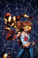Spider-Man and Arana by GURU-eFX
