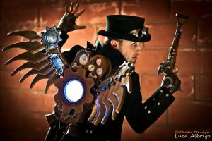 Steampunk Flying Man by boss8080