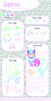 Species Guide : Squiroo ( Custom : OPEN ) by JessyB-Design