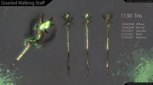 GW2 Gnarled Walking Staff by Sebvhe