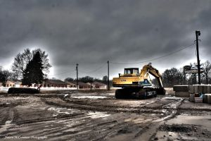 Backhoe by aseaofflames