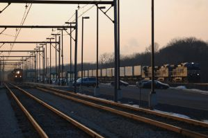 NS and CSX race by JDAWG9806