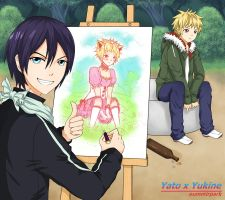 [Noragami] Yato x Yukine by OummirPark