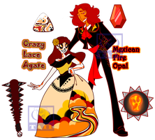 Crazy Lace and Fire Opal Revamp by TaiitheDecepticaon