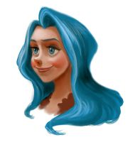 Blue haired girl by Ardinaryas