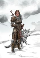 Ysmir and her faituhfull hound by Chebayev