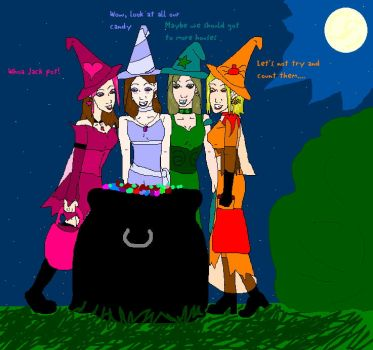 Candy Witches by Gothicthundra