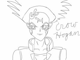 First drawing of crow hogan digitally by AskTuxSonicsSister