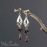 Rose Earrings by WhiteTincture