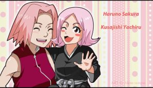 Haruno Sakura and Kusajishi Yachiru  - color by Alena-sempai