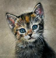 PRECIOUS - Watercolour - Miniature by AstridBruning