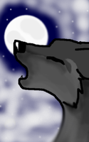 Wolf And The Clouded Moon by tigernight123