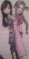 Tifa and Aerith by skatergirl747