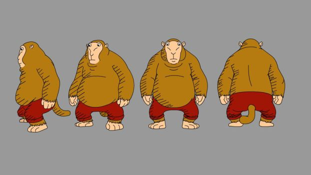 Monkey Character Design by pinoy-verse