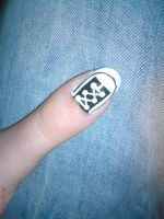 Converse Nail Design by AnyRainbow