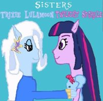 Trixie + Twilight = Sisters (Colored) by Shafty817