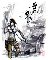 Lara Croft Sumie Style by MyCKs