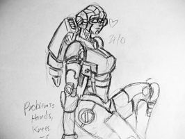 unfinished Arcee Doodle by pentecil