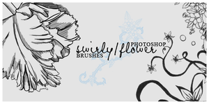 Swirly-Flower Brushes by reecito