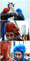 saix and axel: fight by AllenYuu