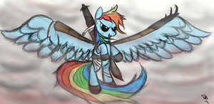 Badass Rainbow Dash by dennyhooves