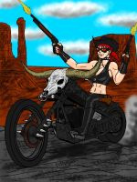 Post Apocalyptic Western Cowgirl Final by RedSpider2008