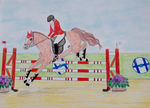 Show jumping by Laurindie
