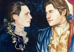 Loki and Thor as Lestat and Louis by golikethat