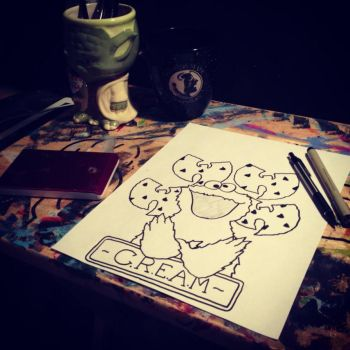 My Cookie Monster C.R.E.A.M tattoo design by sampson1721