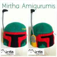 Boba Fett crochet hat by Mirtha Amigurumis by MirthaAmigurumis
