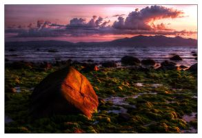 Saltcoats Sunset at 90 degrees by Dr-Koesters