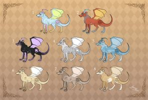 Adoptables: Drawolves 3 by MySweetQueen