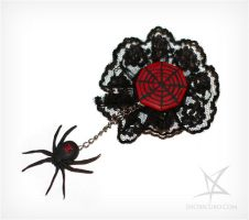 Black Widow brooch by MissAnnThropia