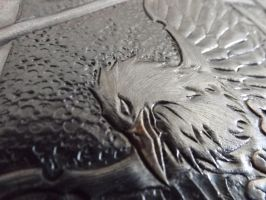 leather tooled book  raven by CreationsMJF